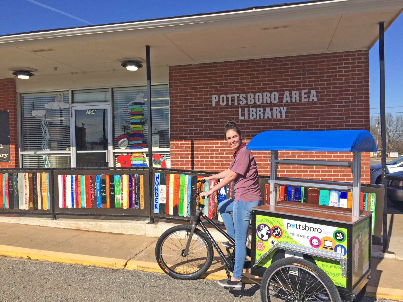 Coaster's Library Bike hits the Road in Texas