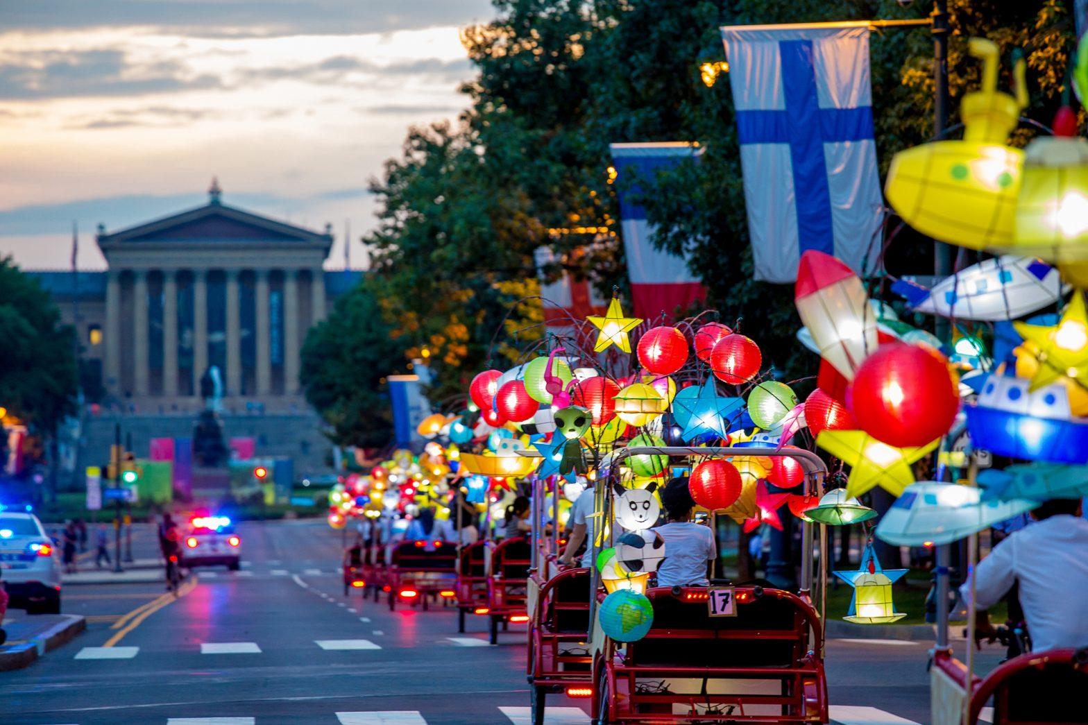 Coaster Pedicabs Featured in Philadelphia Art Expo