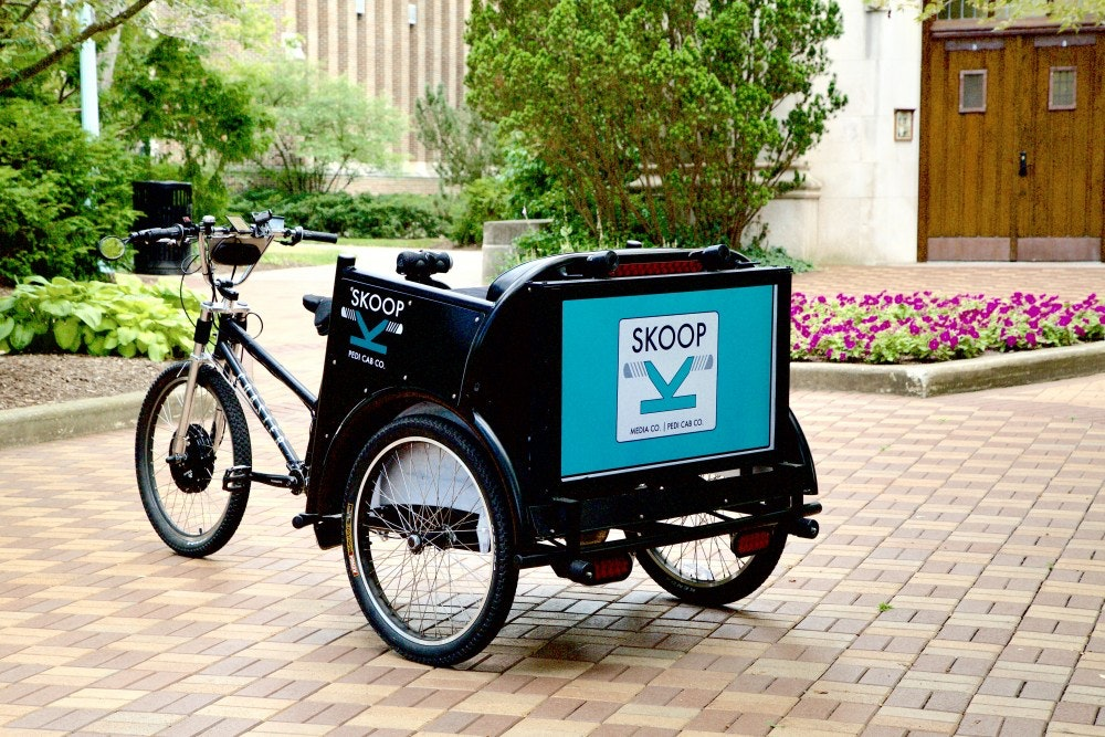 Need a lift? MSU student offers free pedicab rides through Skoop