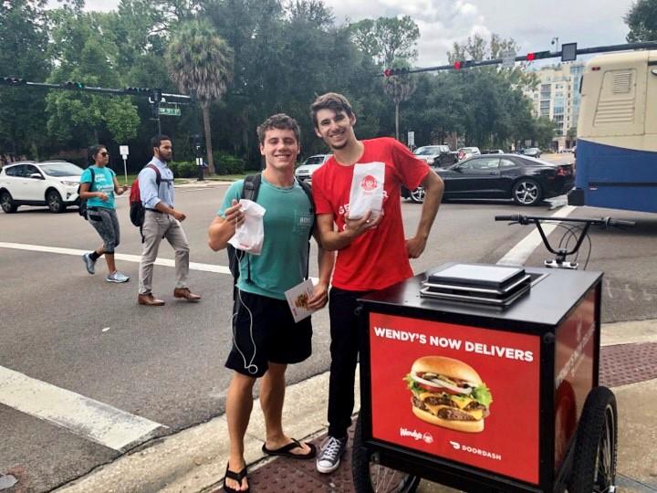Urban Food Delivery Marketing Bikes